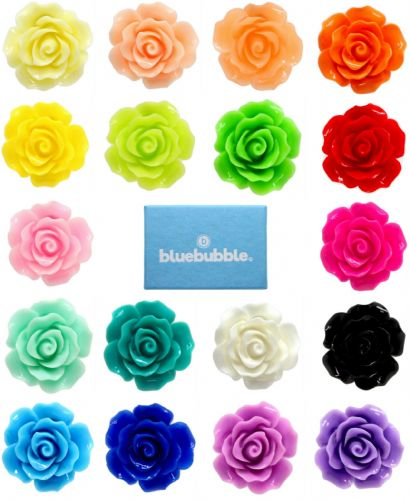 Bluebubble ENGLISH ROSE 22mm Carved Rose Stud Earrings With FREE Gift Box